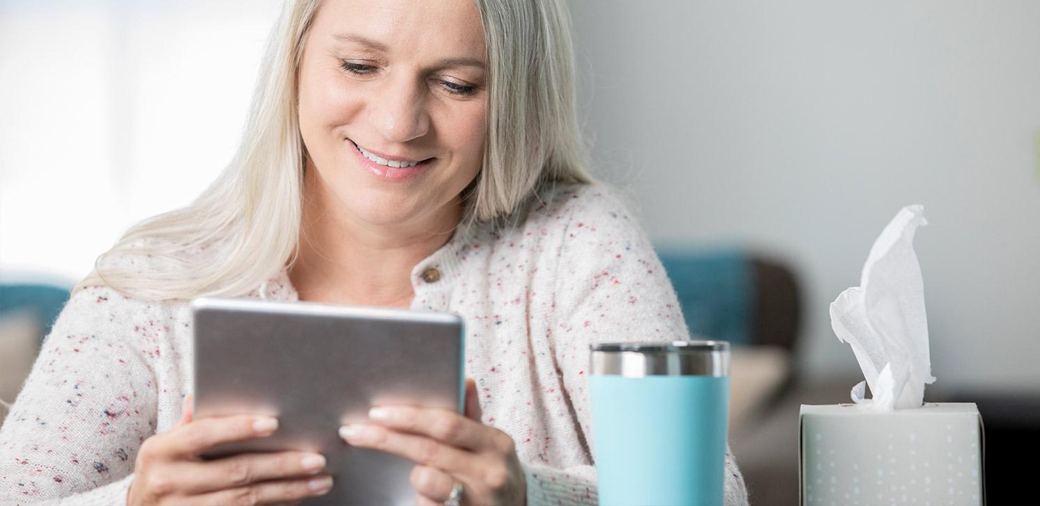 Aseguradaaccede a las últimas noticias sobre salud desde su tableta