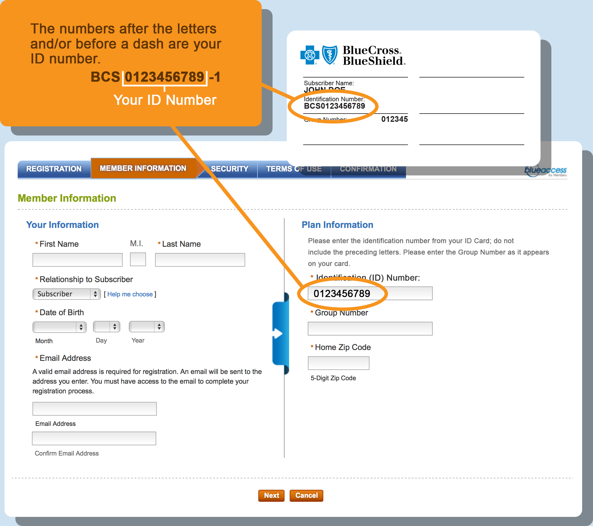 Blue Cross Blue Shield Quote Register For Blue Access For Members  Blue Cross And Blue Shield