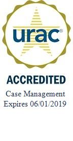 U.R.A.C. Accredited Health Utilization Mangement Logo with link to external U.R.A.C site