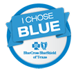 Blue Cross and Blue Shield of TX I Chose Blue share banner